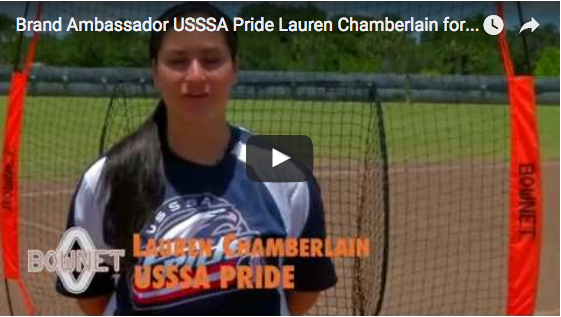 Brand Ambassador USSSA Pride Lauren Chamberlain for Bownet Big Mouth®
