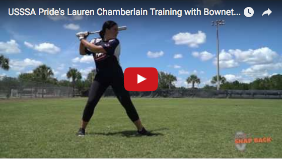 USSSA Pride's Lauren Chamberlain Training with Bownet Snap Back Training Balls