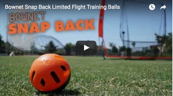 Bownet Snap Back Limited Flight Training Balls Video