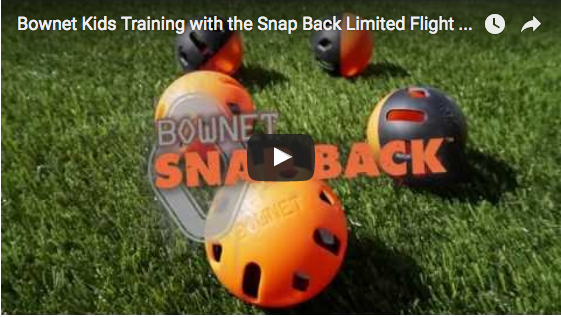 Bownet Kids Training with the Snap Back Limited Flight Balls