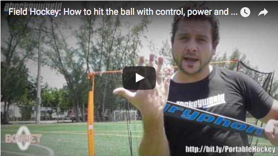 Bownet Field Hockey: How to hit the ball with control, power and accuracy?
