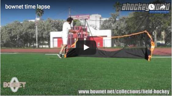 Bownet Time Lapsed Field Hockey Goal Setup Video