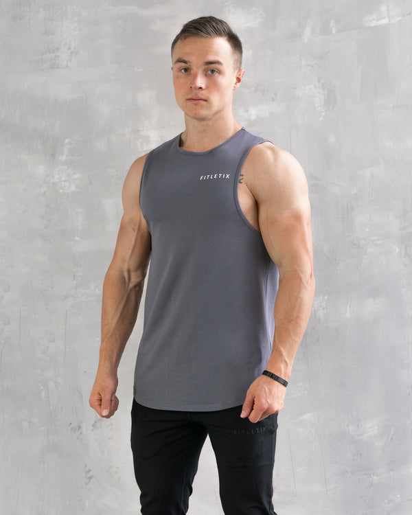 Essential Muscle Tee - Storm Gray