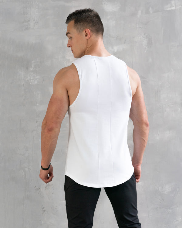 Essential Muscle Tee - White
