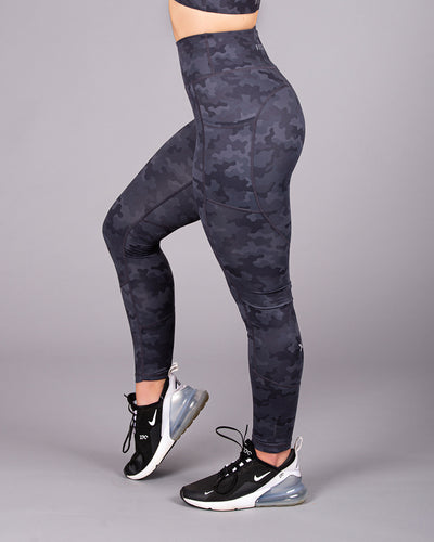 LUXE Legging - Black/Grey Camo