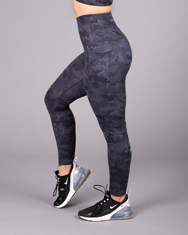 LUXE Camo Legging - Black/Grey