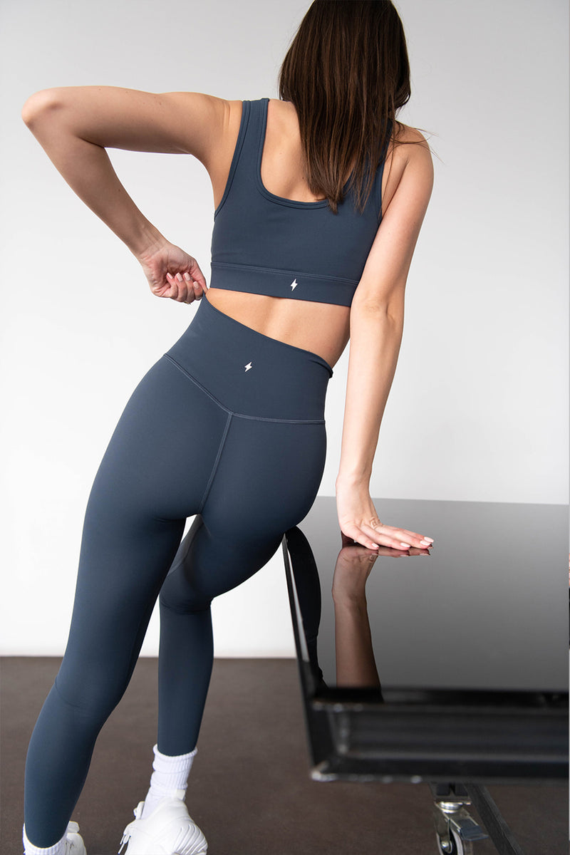 HIGH WAISTED LEGGINGS - STONE