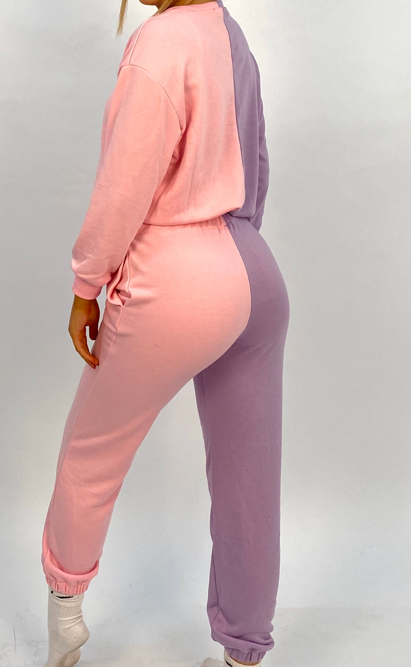Pink And Lilac Joggers
