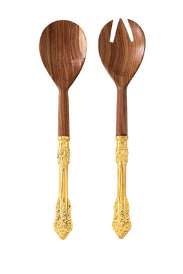 Antico Wood Salad Servers