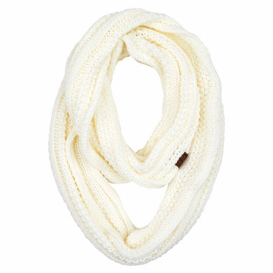 Ribbed Solid Infinity Scarf – Assorted Colors