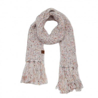 Feather Knit Scarf – Assorted Colors