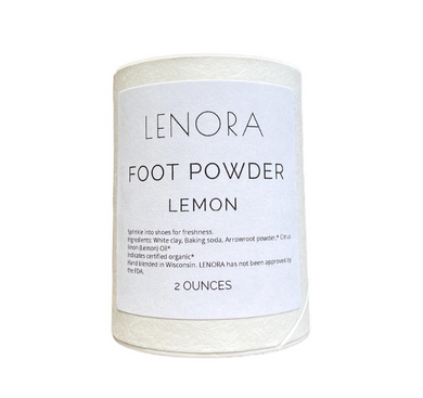 Lenora Organic Handcrafted Skincare Foot Powder Geranium + Tea Tree