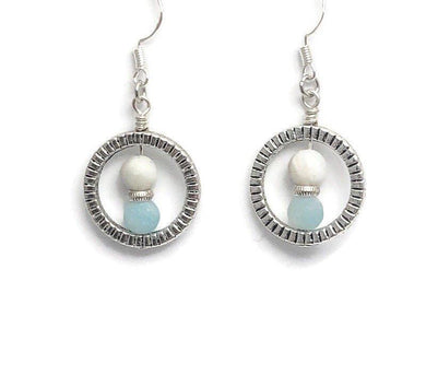Amazonite Circle Earrings