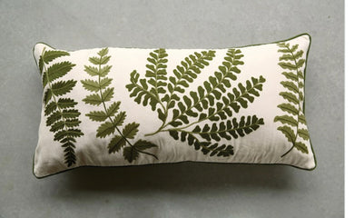 Fern Embroidered Bolster
