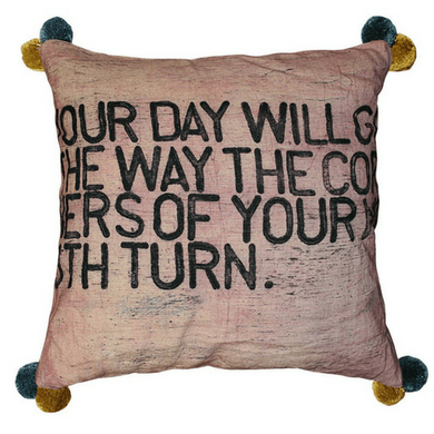 "Pom Your Day Pillow 24""x24"""
