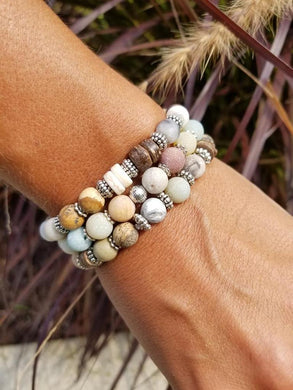 Amazonite Bracelet Stack - Set of 3
