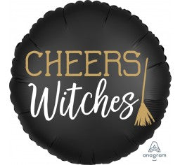 45cm FOIL SATIN CHEERS WITCHES (HALLOWEEN)
