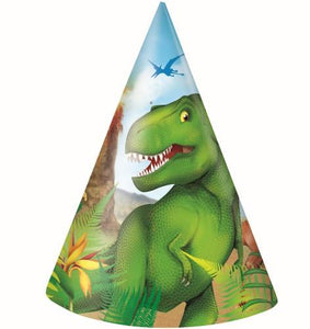Dinosaur Party Hats (Pack of 8)