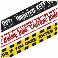 Halloween Fright Tape Banners (Pack of 3)