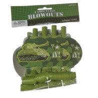 Camouflage Blowouts (Pack of 8)