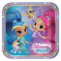 Shimmer & Shine Luncheon Plates Square(Pack of 8)