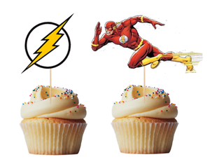 The Flash custom cupcake toppers (set of 12)