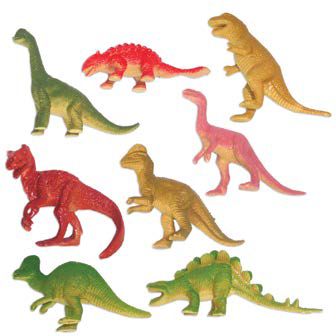 Dinosaur Party Supplies Mini Dinosaur Favours (Pack of 8)