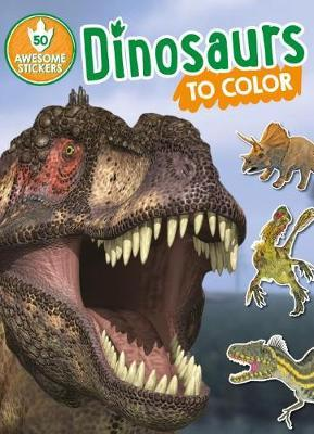 Dinosaur to colour sticker and colouring in book