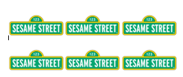 Sesame Street Sign Straw Flags Digital File