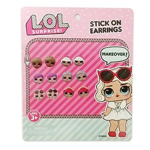 LOL surprise stick on earrings (6 pairs)