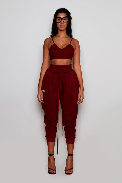 Bordeaux Ribbed Bralette