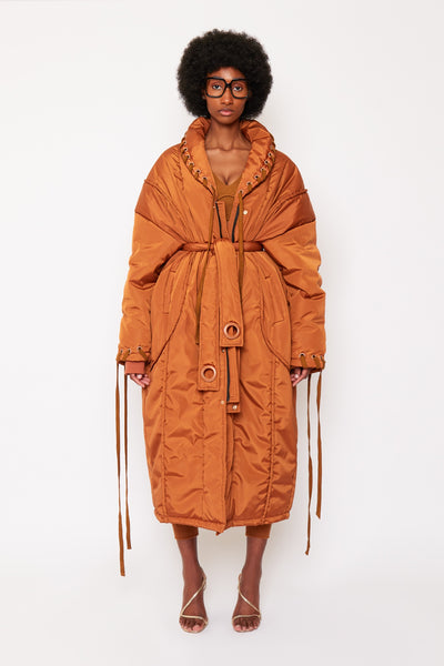 Burnt Tan Puffer Coat