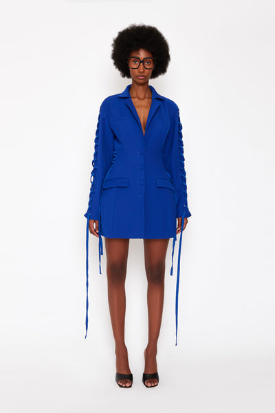Cobalt Laced Blazer Dress