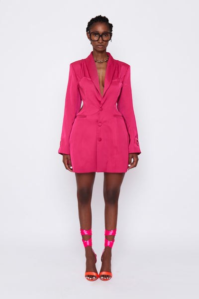 Cut Out Blazer Dress
