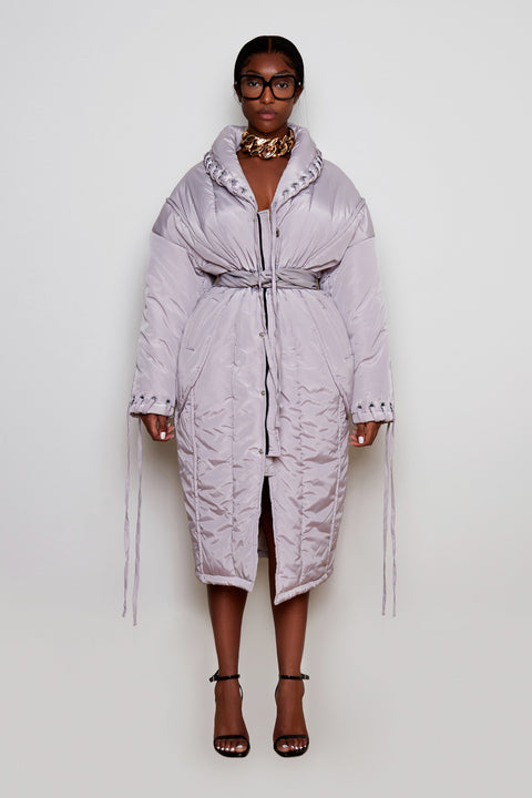 Crayon Grey Puffer Coat