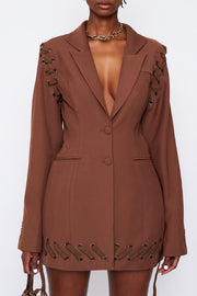 Laced Blazer Dress