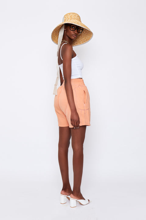Peach Fleece Shorts