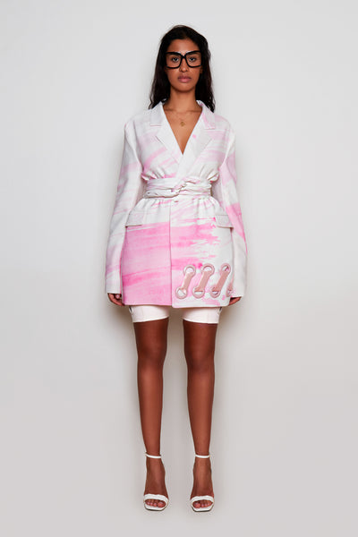 Rose Printed BB Suit Jacket