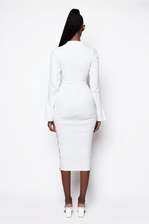 Ribbed Zip Midi