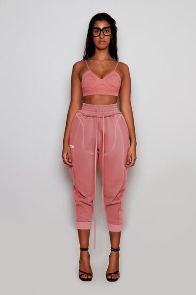 Rose Pink Terry Joggers