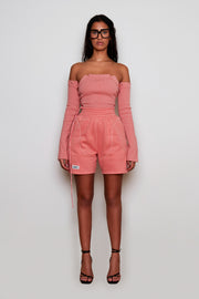Rose Pink Fleece Shorts