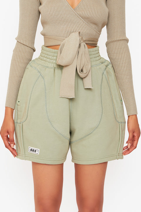 Sage Fleece Shorts