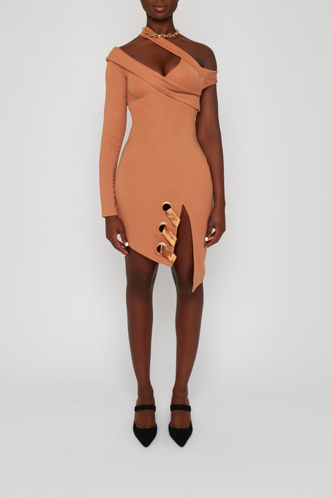 BBX Split Shoulder Dress