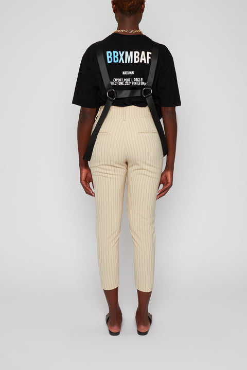 Stripe Tapered Pants