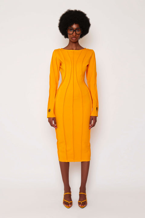 Sunflower Piped Midi Dress