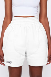 White Terry Shorts