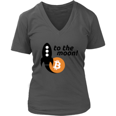 To The Moon v2 District V-Neck T-Shirt