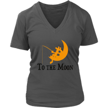 Load image into Gallery viewer, To The Moon v1 District V-Neck T-Shirts - MyCryptoMarket.ca