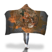 Load image into Gallery viewer, In Bitcoin We Trust Hooded Blanket