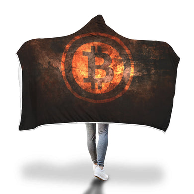 Bitcoin Strong Hooded Blanket
